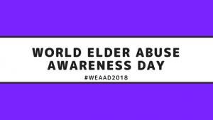 WEAAD WORLD ELDER ABUSE AWARENESS DAY PURPLE SIGN