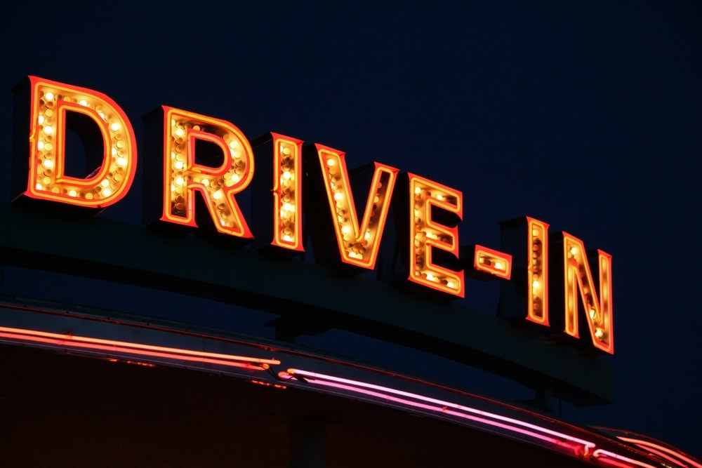 summer fun drive-in movie theatre sign